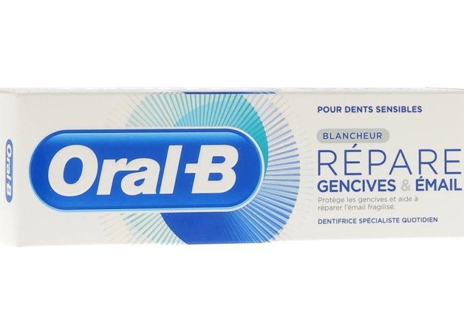 Echantillon gratuit de dentifrice Oral-B Répare gencives et émail à tester